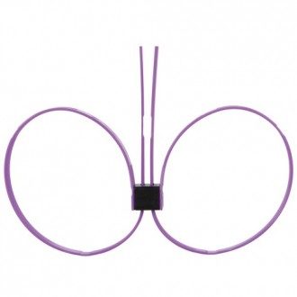 DISPOSABLE OUCH! ZIP TIE CUFFS EXTENDED PURPLE