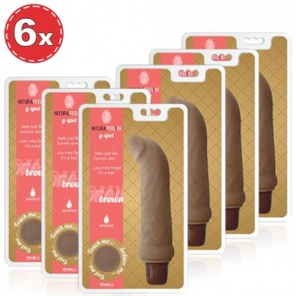 PACK WITH 6 NATURAL FEELING G-SPOT BROWN VIBRATORS