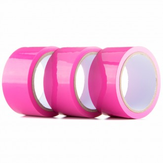 PACK WITH 3 OUCH! BONDAGE TAPE PINK