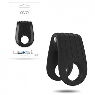 OVO B12 DOUBLE PENIS RING  BLACK