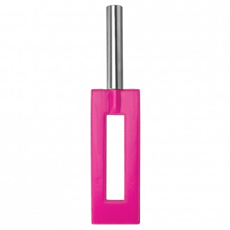 OUCH! LEATHER GAP PADDLE PINK