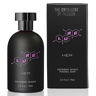 LURE BLACK LABEL PERFUME WITH PHEROMONES FOR HER 74ML