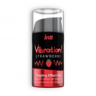 GEL CON VIBRACIÓN VIBRATION FRESA INTT 15 ML