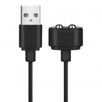 CARGADOR USB MAGNÉTICO SATISFYER NEGRO