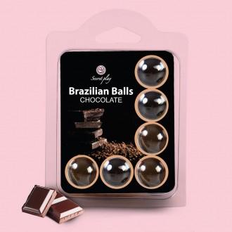 BOLAS LUBRICANTES BESABLES BRAZILIAN BALLS SABOR A CHOCOLATE 6 x 4GR