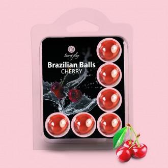 BOLAS LUBRICANTES BESABLES BRAZILIAN BALLS SABOR A CEREZA 6 x 4GR