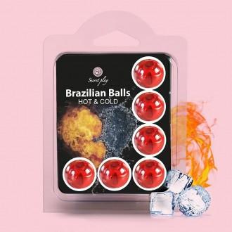 BOLAS LUBRICANTES BRAZILIAN BALLS EFECTO FRESCOR Y CALOR 2 x 4GR
