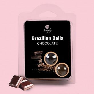 BOLAS LUBRICANTES BESABLES BRAZILIAN BALLS SABOR A CHOCOLATE 2 x 4GR