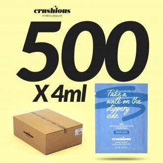 PACK 500 SACHET CRUSHIOUS WATERBASED LUBRICANT 4 ML