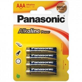 4 PILAS AAA ALCALINAS PANASONIC